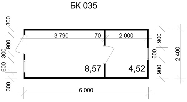 Блок-контейнер 6x2.4 вагончики