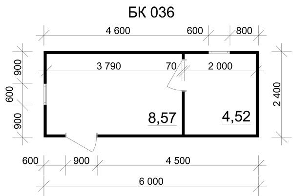 6x2.4 вагончики бытовые
